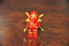 1 x LEGO Minifig Mini Figure RED Gold Dragon Kai Ninja Ninjago 2 Gold Swords