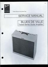 Copy Fender Blues De Ville Tweed Series Guitar Amplifier Parts List Schematic(s)