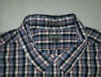 Men's Eddie Bauer Button Down Dress Shirts Size 2XL Classic Fit XXL Blue Red