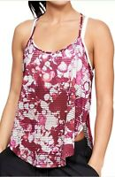 Under Armour Print Sport Womens Workout Vest Pink Gym Training Tank Top Large