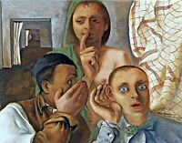 The Secret by German Painter Felix Nussbaum. People Repro on Canvas or Paper
