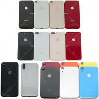 For iPhone 8 8 Plus X XR Housing Back Glass Chassis Frame Battery Door Cover US