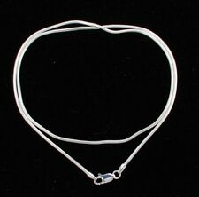 """Sterling Silver Chain 22"""" Snake Anti-Tarnish 1.6 mm Sterling Silver Lobster Clas"""