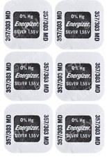 Quality Silver Oxide Battery 1.55v to fit YASHICA FX-3 FX-70 FX-D [6-Pack]