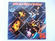 Michael Schenker Group One Night At Budokan 2LP Chrysalis CTY1375 EX/EX 1981 dou
