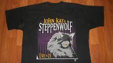 Vintage 90's JOHN KAY & STEPPENWOLF Silver Annive Concert Rock T-Shirt LARGE