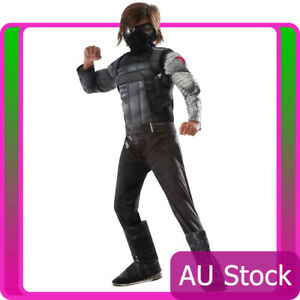 Licensed Kids Deluxe Captain America Winter Soldier Costume Avengers Boys Outfit