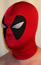 Deadpool Mask spandex halloween superhero costume lycra zentai cosplay red new w