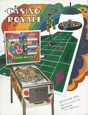 Segasa pinball 1976  = CASINO ROYALE =  sales / promo flyer
