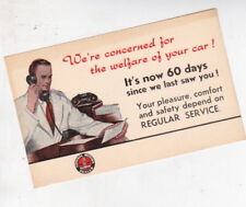 1950s HOLDEN 48/215 FX FJ FE SERVICE REMINDER Post Card VAUXHALL VELOX CHEVROLET