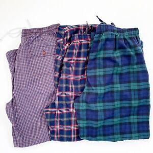BROOKS BROTHERS 3 Pair Men's Extra Large XL Lounge Sleep Pants Plaid Nordstrom
