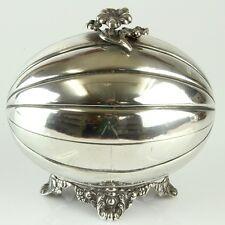 Antique Silver Ethrog Jewelry Box Russia 1830 Judaica