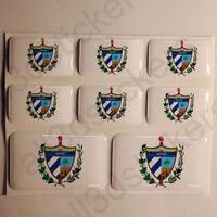 Pegatinas Cuba Escudo de Armas Pegatina Vinilo Adhesivo Resina 3D Relieve Coche