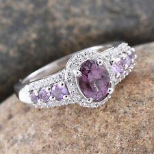 Burmese Lavender Spinel, Madagascar Purple Sapphire, Cambodian Zircon Platinum O