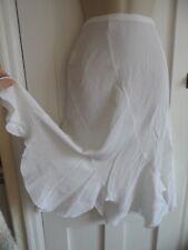 Ladies size 10 Amaranto white long summer skirt handkerchief hemline