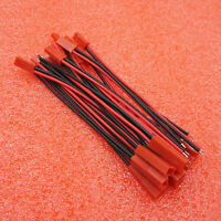 JST Connector Plug Cable Male+Female 100mm for RC BEC Lipo Battery 10Pairs