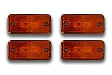4 PCS 24V 3 LED ORANGE SIDE MARKER POSITION LIGHTS TRUCK RENAULT MERCEDES SCANIA