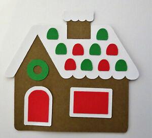 Christmas Gingerbread House Paper Piecing Die Cut Scrapbook Embellishement