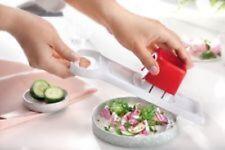 Tupperware Chef Speedy Mando weiß-rot Reibe Mandolino Küchenstar