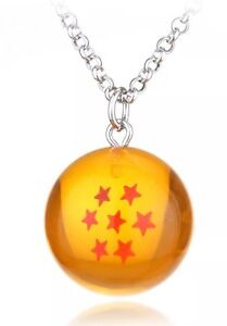 """Dragon Ball Z DBZ Dragon Ball Necklace Pendant Random Ball 1.2"""" US Seller"""