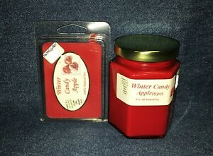 *NEW* Hand Poured Scented Soy Candles Tarts & Votives - Winter Candy Apple Scent