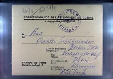 POW Camp 154 Sorgues France 1947 German Prisoner War Kriegsgefangenenpost 116