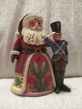 Jim Shore Announcing Holiday Joy Santa With Toy Solider Figurine 4044518