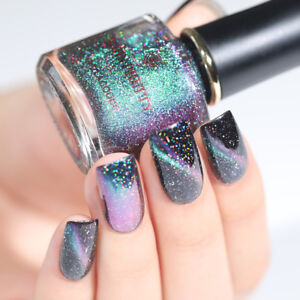 BORN PRETTY Holographicss Magnetic Cat Eye Nail Polish Holo Black Base Needed