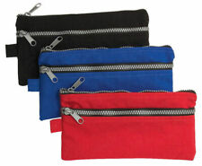 2 x Chunky Double Zip Pencil Cases  Standard size flat pencil case with side ch