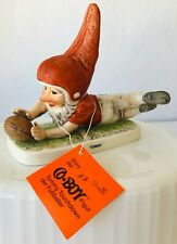 Goebel Co Boy Tommy Touchdown Football Merry Gnome Porcelain Germany Story Tag