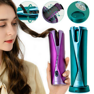 Hair Curler Cordless Hair Curling Wand with LCD Display for Hair Styling Anytime