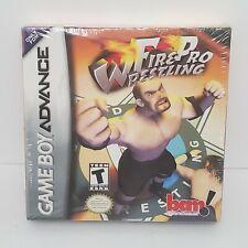 Fire Pro Wrestling Nintendo Game Boy Advance 2001 Factory New Sealed Box Damage
