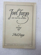 Antique Ad Booklet- Joel Fargo: how far he went, 1912, Cornish Co. piano organs