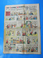 1938 COMIC WEEKLY TIME ALBANY NY COMICS SECTION 22 PAGE NEWSPAPER 4/3 COMICS