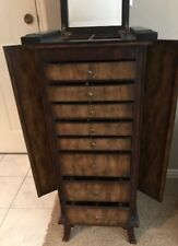 New Jewelry Armoire ,Chest Stand Organize, keys keeper solid Wood .
