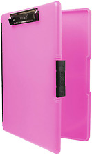 New Slimcase 2 Storage Clipboard With Side Opening Neon Pink 3517 806 Dexas