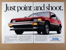 1984 Honda Civic CRX 1.5 color photo vintage print Ad
