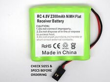 RC 4.8V 2300mAh RECHARGEABLE Ni-MH FLAT RECEIVER AA BATTERY PACK