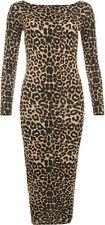 Regular Size Casual Animal Print Dresses for Women