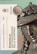 """2 euro San Marino 2016 """"550° Ann. della morte di Donatello"""" Сан-Марино"""