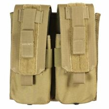 Bulle Tan MOLLE Webbing Tactical Double Rifle Mag Pouch Rapid Draw