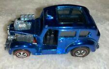 "Hot Wheels Redlines 1970 Cockney Cab Original Beautiful Blue ""Mint"""