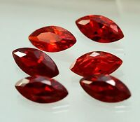 56 CT CUBIC ZIRCON 10 Pcs Beautiful 7x14mm Marquise Cut Red Color Wholesale OA2