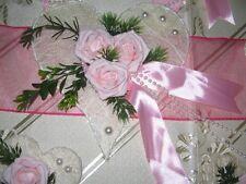 Tischdekoration 7 teilig  ROSA Tischdeko Hochzeit Kommunion Taufe Verlobung