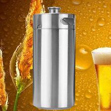 3.6L 127oz Stainless Steel Mini Keg Growler For Beer Wine Home Brew Beer