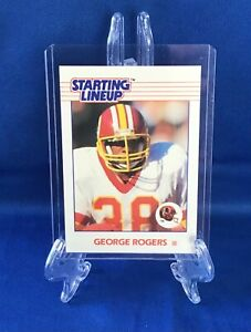 1988 GEORGE ROGERS WASHINGTON REDSKINS UNRELEASED STARTING LINEUP CARD!