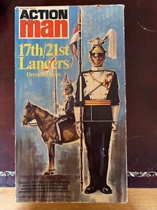Action Man Vintage Rare Boxed 17th/21st Lancers Dressed Figure In Excellent Cond
