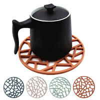Silicone Round Heat Insulation Non-slip Cup Pad Placemat Dinning Table Mat Call