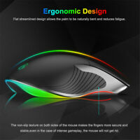Wired Gaming Mouse 3200DPI USB Wired 6 Buttons RGB Light 6 Pro Computer Mouse c