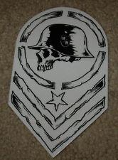 "METAL MULISHA Chevron Wht Blk Helmet Skate Sticker 6"" motocross skateboard decal"
